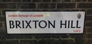 Brixton Hill roadsign