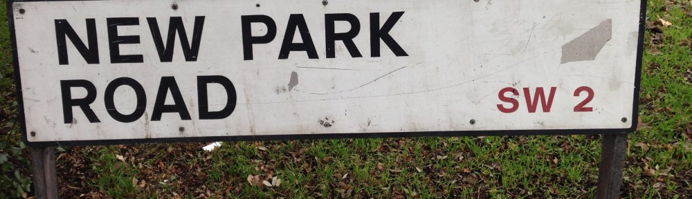New Park Road sign