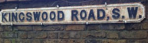 Kingswood Road sign
