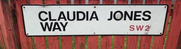 Claudia Jones Way roadsign