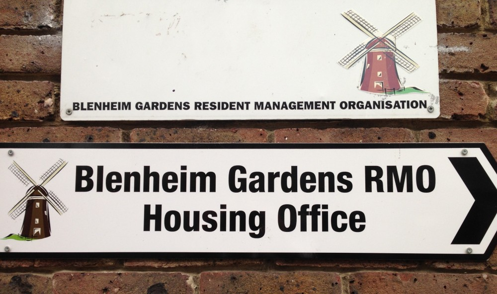 Blenheim Gardens RMO signs