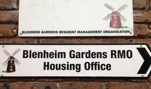 Blenheim Gardens RMO signs